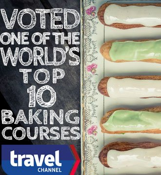 Voted One of the world's top 10 baking courses by TravelChannel.com